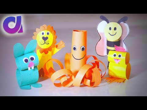 5 COOLEST PAPER TOYS FOR KIDS you can make at home | Artkala 209