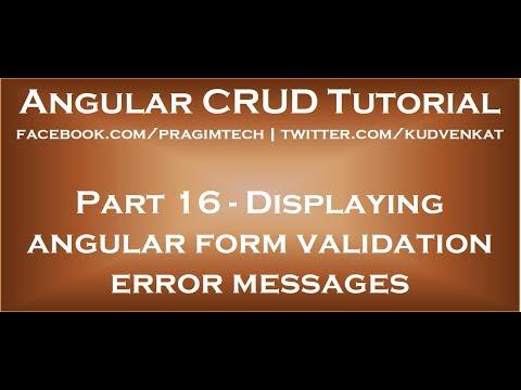 Displaying angular form validation error messages