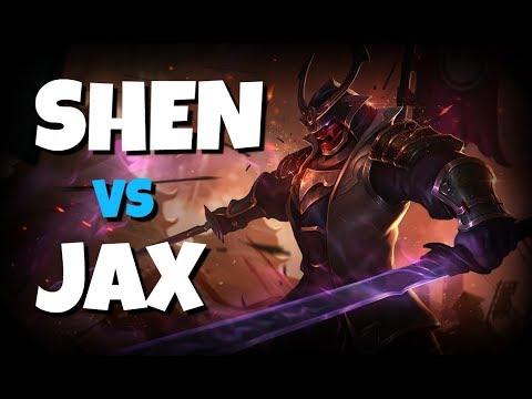 SHEN TOP LANE VS JAX SEASON 8!