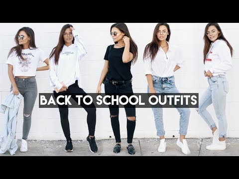 5 Back to School Outfits Ideas - Monday through Friday ft. Glasses