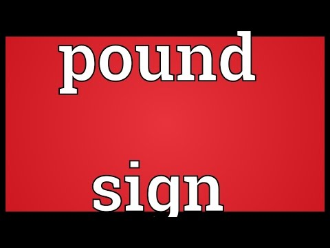 Pound sign Meaning