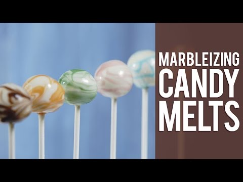 Marbleizing Candy for Dipping Treats with Candy Melts® Candy