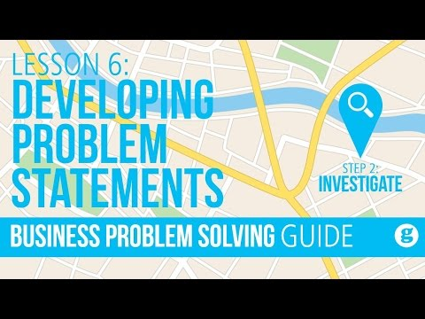 Lesson 6: Developing Problem Statements