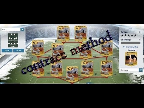 fifa 14 ultimate team contracts trading method