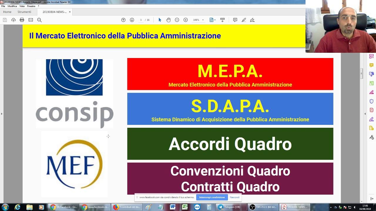 Strumenti di acquisto e negoziazione del MEPA (4/8/2019)