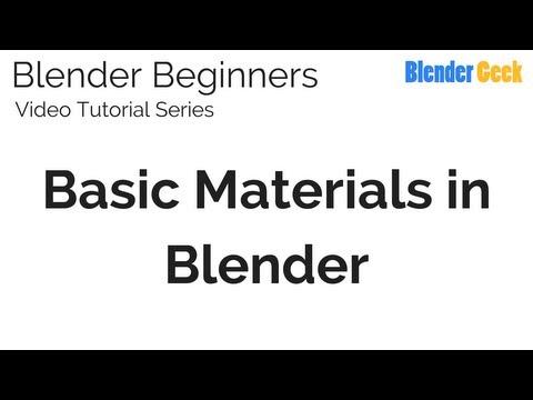 4. Blender Beginners Video Tutorial - Basic Materials in Blender