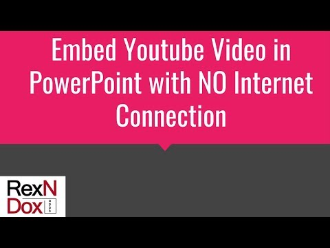 Embed Youtube Video in PowerPoint with no Internet Connection