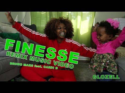 Finesse Remix Music Video - Bruno Mars feat. Cardi B - GloZell