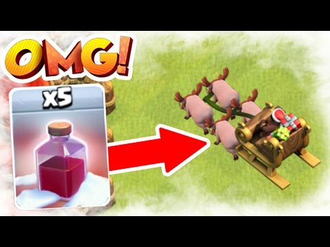 NEW UPDATE! ALL SANTA SURPRISE SPELL'S!! - CLASH OF CLANS CHRISTMAS UPDATE 2016!