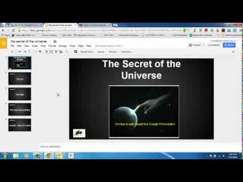How to add sound to a Google Presentation part 1