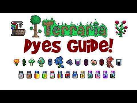 Terraria Dyes Guide! Dye Trader & Dye Vat Tutorial! ALL dyes, all platforms! (Mobile, 1.3+ etc.)