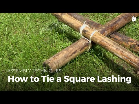 How to Tie a Square Lashing | Bushcraft