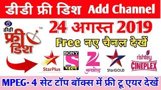 Independent tv and dd free dish dth setting signal in mpeg 4