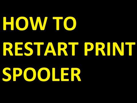 How to restart print spooler error on print server