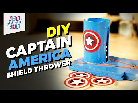 How to make DIY Captain America Shield Thrower