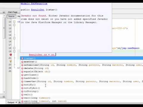 4. cargar datos en un combo box (JSP) con mysql