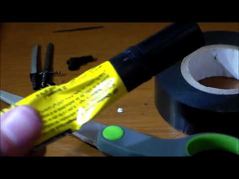 How to make electrical tape sheaths and gun holsters for minifigures