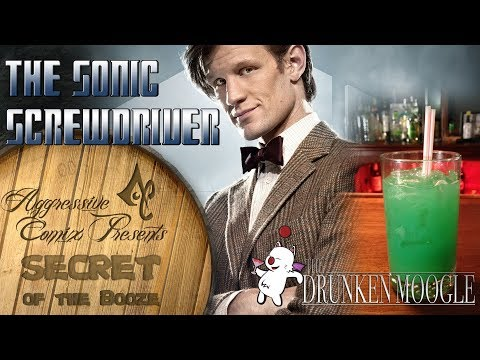 Sonic Screwdriver Doctor Who Inspired Cocktail