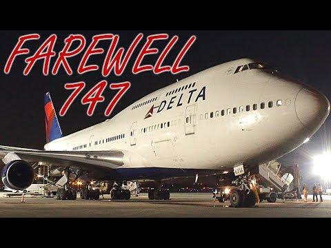 {TrueSound}™ Last Ever Delta Boeing 747-400 @ Ft. Lauderdale! POWERFUL Jetblast, Taxi, Takeoff