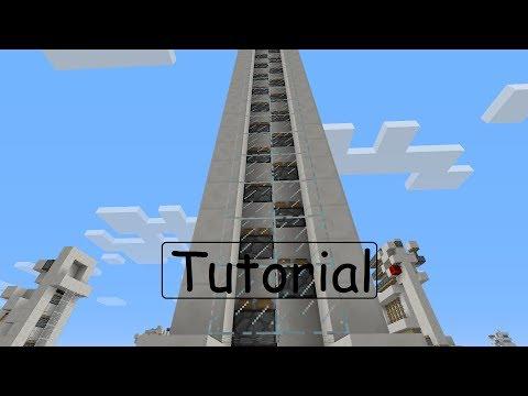 Minecraft Tutorial: Recourse Friendly Piston Elevator (1.7.2+) [German/HD]