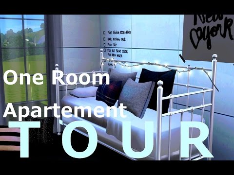 HOUSE TOUR : One room Apartment (Sims 3)