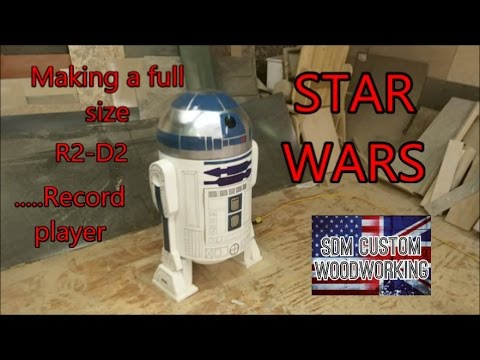 making a life size R2-D2 from star wars....  record player (DIY)