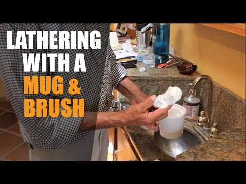 Using a Traditional Shaving Mug & Brush - Creating the Lather