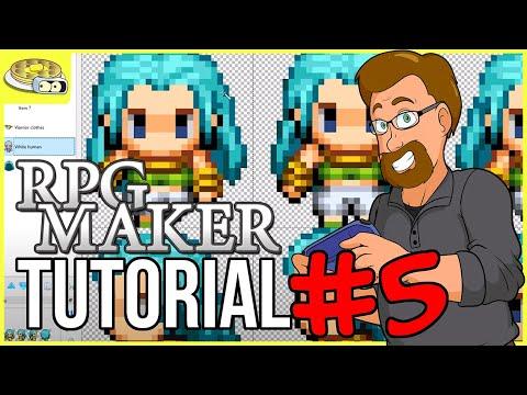 Creating Character SPRITES | BenderWaffles Teaches - RPG Maker Tutorial HOW TO #5