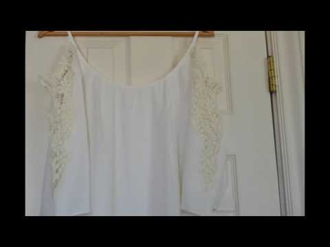 Milumia: White Dress with Crochet/Lace Sleeves and a Tassel Bottom #Review