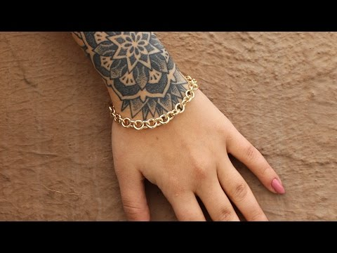 How to Make A Gold Chain Bracelet