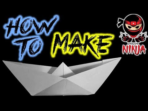 How To Fold: Paper Boat (Floats on WATER!!)