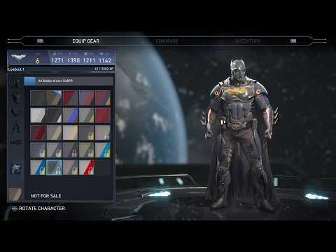 INJUSTICE 2 - Batman & Flash EPIC Gear Set All Skins