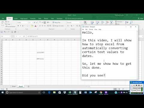 Stop Excel from automatically converting text values to dates