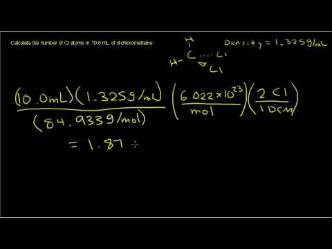 Chemistry - Calculating Number of Atoms in a Sample
