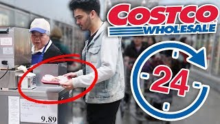 We Only Ate Costco SAMPLES For 24 Hours and THEY CAUGHT US! (Challenge Got Us KICKED OUT)