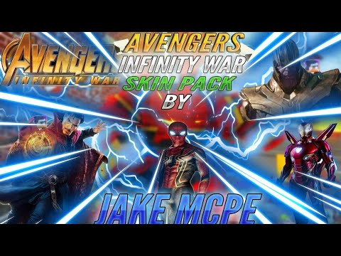 Avengers Infinity War Skin Pack for Minecraft Bedrock Edition!!
