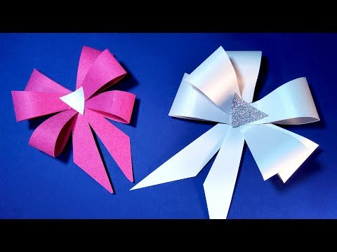 How to make 🎀 easy PAPER BOW. Bow with paper. Ideas for gift wrapping