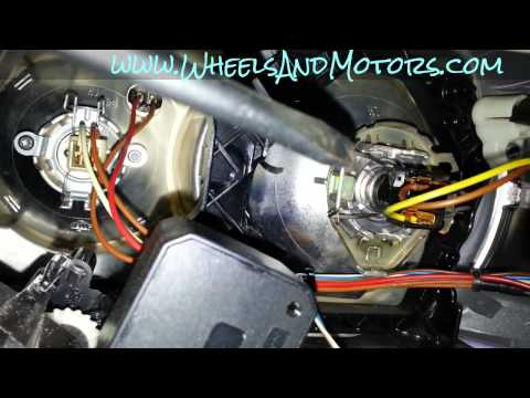 How to replace headlight bulb on Audi A6 (C6 4F) - dipped beam, main beam and daylight.