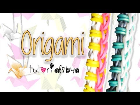 NEW EASY Origami Rainbow Loom Bracelet Tutorial   How To