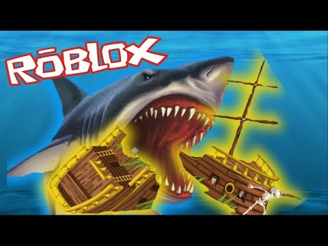 A GREAT WHITE SHARK ATTACKED US!!! [ ROBLOX GAMEPLAY ]