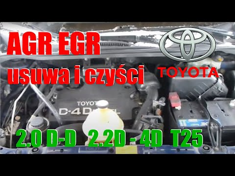 AGR/ EGR  system remove Valve Port Cleaning Valvoline 2.0D-d Toyota
