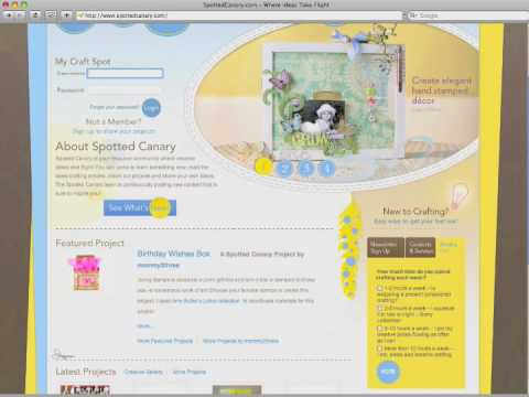 SpottedCanary.com crafting website demo video