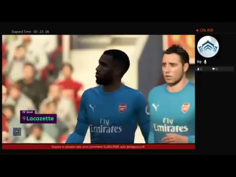 Fifa 18 PlayStation 4 # Ps4live Jbdappa vs baconboy1993