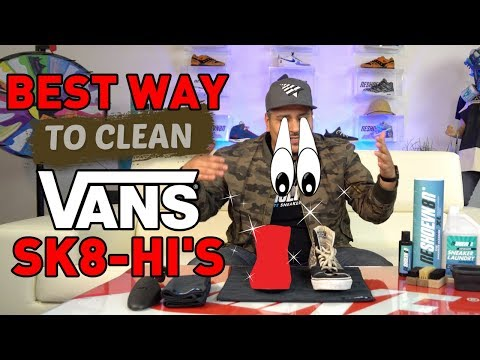 The best way to clean Vans Sk8-Hi's