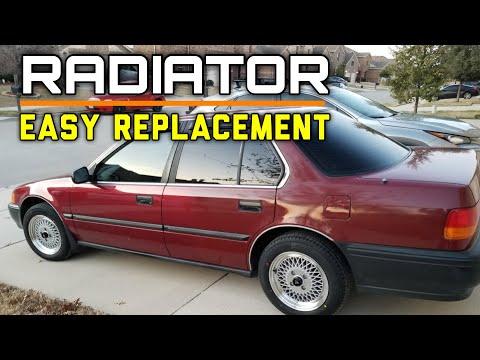 DIY:B15/B16 Honda Civic CR-X 1.5L & 1.6L Radiator Replacement - Bundys Garage