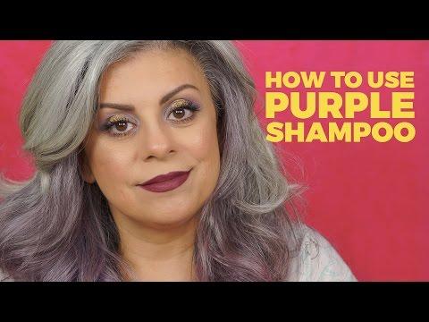 How to Purple Shampoo for Gray Hair