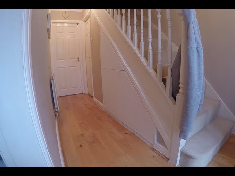 Under Stair Drawers, Flush Drawer Fronts, Push to Open