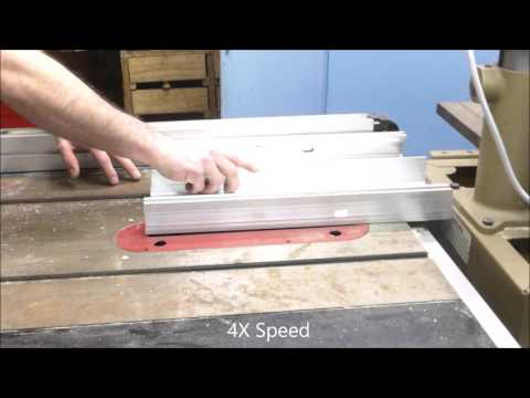 How To: Cutting Aluminum Panel on a Wood Table Saw