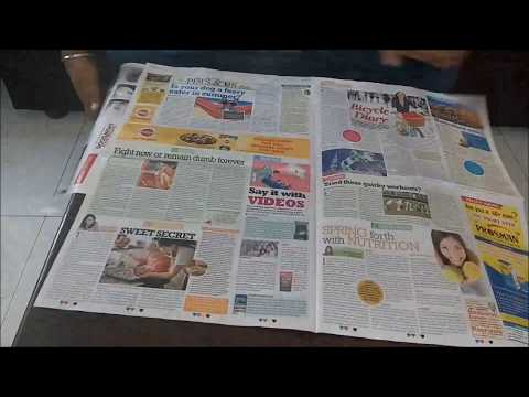DIY Newspaper Bags for Dustbins / Newspaper Liners / No Plastic