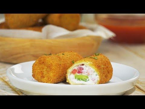 Crispy on the outside, gooey on the inside: Stuffed Mini-Cannelloni